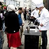 The old-fashioned food cart is now hip -- and on the run -- with the help of Twitter