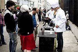 JEN SISKA - Hey, Crème Brûlée Guy, torch me up one of those.