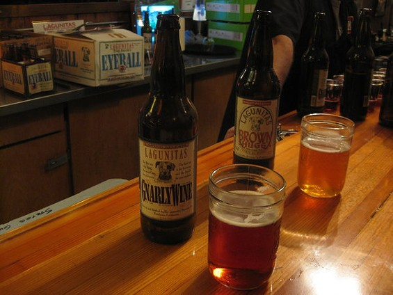 Hittin' the library: Aged beers at Lagunitas Brewing Co. in Petaluma. - ALASTAIR BLAND