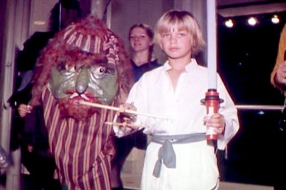 Homemade costumes were popular until George Lucas' licensing goons intervened.