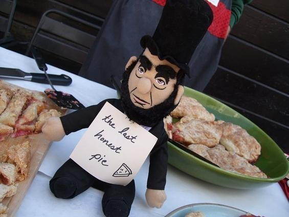 Honest Abe's pie at the last S.F. Food Wars pie battle. - TAMARA PALMER