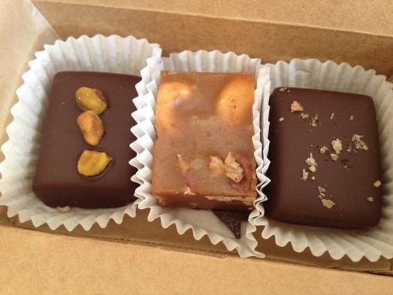 Hooker's saucy caramel trio. - TAMARA PALMER