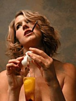 BENJAMIN  PRIVITT - Horror and Hangovers: Sally Bowles - (Kimberly Dooley) concocts a cure.