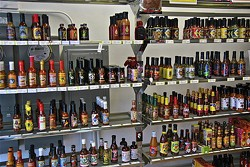 Hot Sauce and Panko has an extensive collection of bottles for sale. - FLICKR/FUZZYTRAVELER