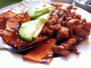 House of Nanking's sesame chicken. - JONATHAN KAUFFMAN