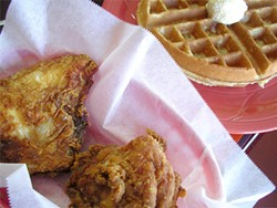 JOHN BIRDSALL - House Special fried chicken and waffle at Frisco Fried in the Bayview.