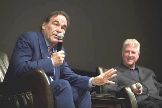 """How much more of this can we take? Donald Trump wants to be president,"" director Oliver Stone asks. - TOMMY LAU"