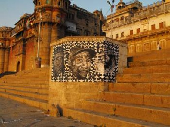 Hugh Leeman's work in Varanasi, India - PHOTO BY HUGH LEEMAN, COURTESY OF THE ARTIST