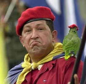 Hugo Chavez, seen here with his second-favorite source of tweets