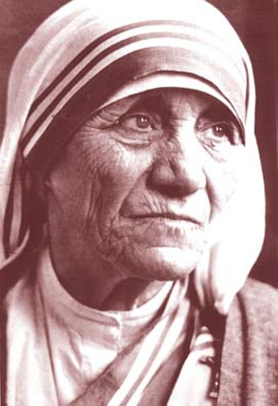 I bet Mother Teresa ate unprocessed foods.
