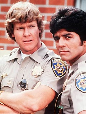 'I don't know, Ponch, you think all these football puns will convince people to avoid getting a DUI?'