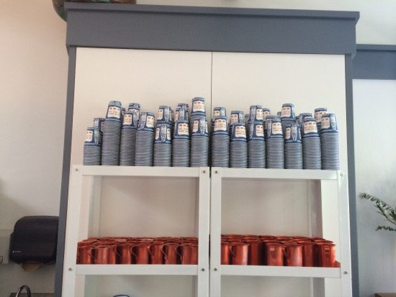 I see you, Greek coffee cups. - PETE KANE
