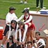Cheerleader Caught Looking