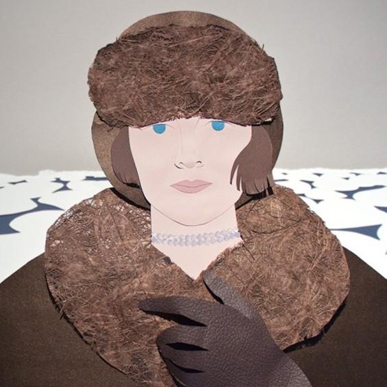 Ice portrait of Boyd - ARTIST MAËLLE DOLIVEUX