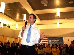 If ever you were looking to keep Gavin Newsom away, scare up a picket line - WILL HARPER