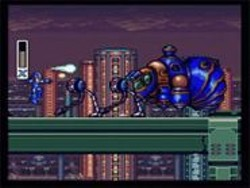 If Mega Man had beaten Pesticide Man and - gotten the Raid Blaster, he might have - stood a fighting chance.