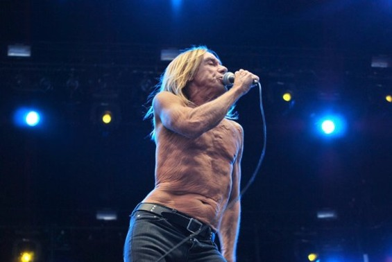 Iggy Pop at a Stooges gig this summer. Via Facebook