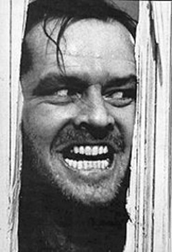 """""""I'll take another one of those eggnogs"""": Jack's no dull boy in The - Shining."""