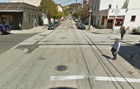 Imagine this corner lined with vendor booths and packed with a few hundred people. - GOOGLE STREET VIEW