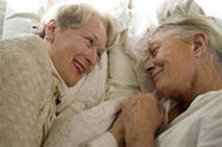 FOCUS FEATURES - In Evening, a dying woman (Vanessa Redgrave, right) flashes back to a friend's wedding 40 years earlier at which she fell madly, and tragically, in love.