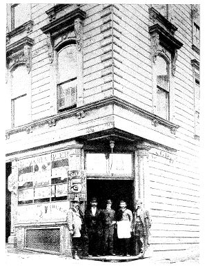 In the days when beer was 5 cents: the Saloon circa 1870, with the elder Wagner in the center.