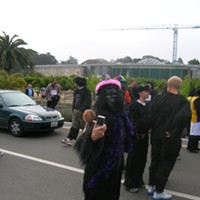 Gorilla Warfare In today's Great Gorilla Run, people -- politically aware people, delightfully silly people -- donned gorilla suits and meandered around Golden Gate Park to raise funds for the Gorilla Organization, an international charity dedicated to protecting Central Africa's remaining mountain gorillas. More info at greatgorillarun.org.