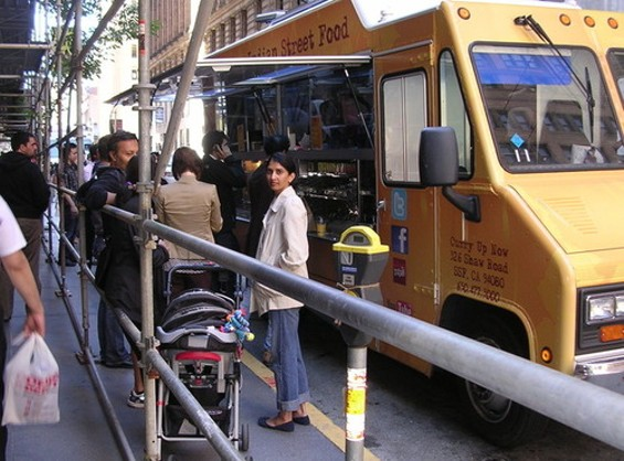 Indian taco truck Curry Up Now debuted downtown. - JOHN BIRDSALL