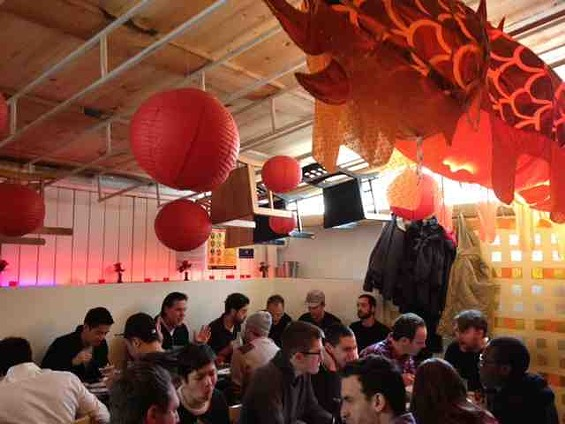 Inside Mission Chinese Food's Manhattan location. - TAMARA PALMER