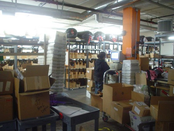 Inside the Good Vibrations warehouse.