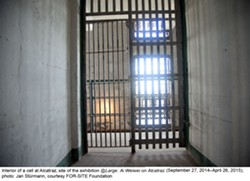 Interior of a cell at Alcatraz - JAN STURMANN COURTESY OF FOR SITE FOUNDATION