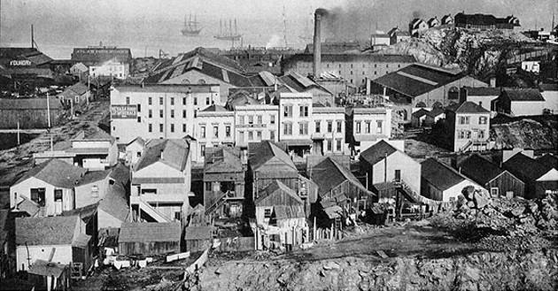 Irish Hill c. 1890 - SAN FRANCISCO MARITIME MUSEUM
