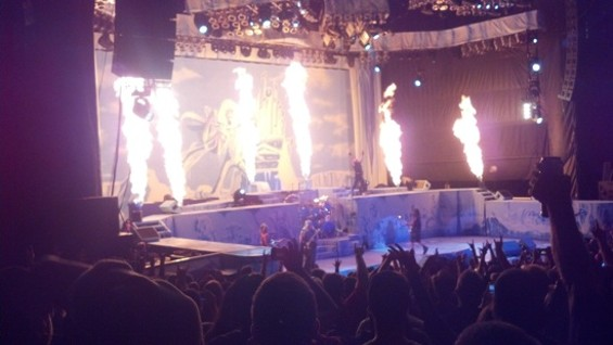 Iron Maiden at Shoreline on Friday.