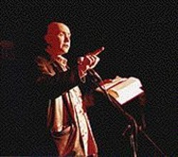 Irvine Welsh reads at the Edinburgh Castle.