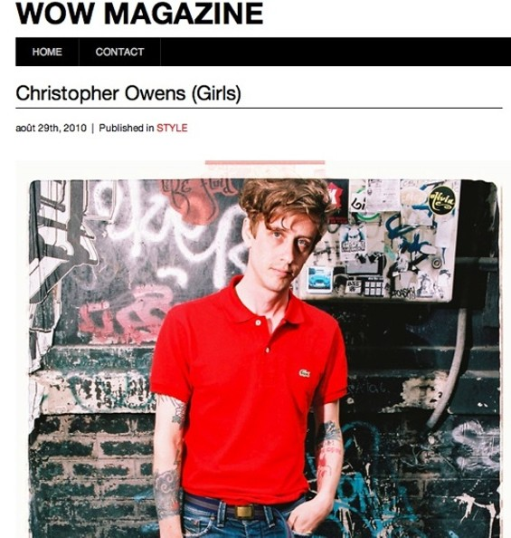 Is Christopher Owens really fashionable? Tell us in the comments. - WOW MAGAZINE