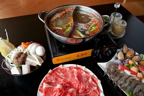 Is this Japanese shabu shabu or Chinese hot pot? Kind of both. - MELISSA BARNES