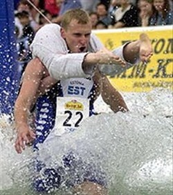 It seems like last year's Wife-Carrying Championship was just yesterday...