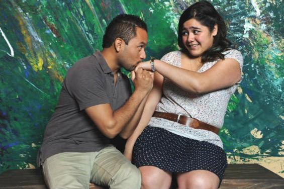 J. Adan Ruiz and Angelina Orellana in the new musical at the Marsh. - KATIA FUENTES