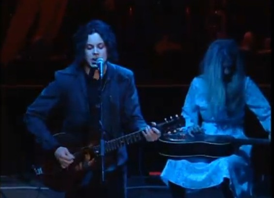 Jack White performing at Bridge School