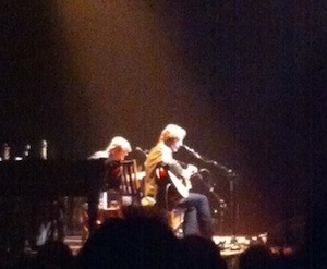 Jackson Browne at Nob Hill Masonic last night. Just picture a really young-looking 64-year-old with a ton of guitars.