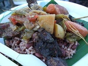 Jamaican street food vendor Evil Jerk Cart will donate a portion of tonight's proceeds to Haiti. - T. PALMER