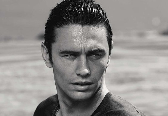 James Franco critiques handsomeness.