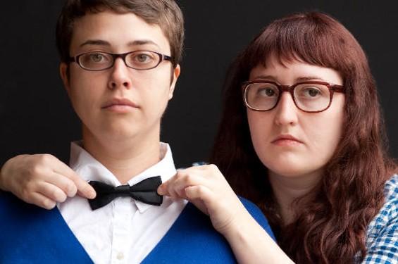 Janine and Emily, the uladylike women of Girl Talk.