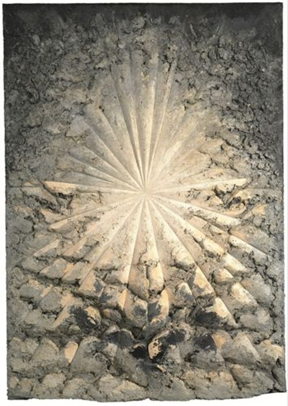 Jay DeFeo, The Rose, 1958-66; oil with wood and mica on canvas. - © 2012 THE JAY DEFEO TRUST / ARTISTS RIGHTS SOCIETY (ARS), NEW YORK, PHOTO: BEN BLACKWELL