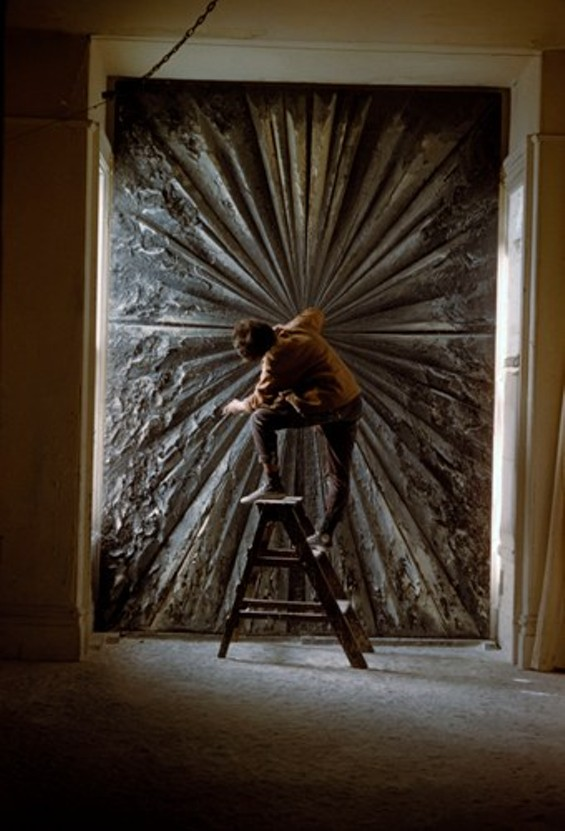 Jay DeFeo working on The Rose, 1960 - BURT GLINN © 2012 BURT GLINN/MAGNUM PHOTOS