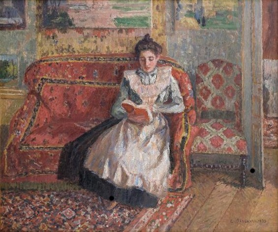 Jeanne Pissarro, Called Cocotte, Reading - CAMILLE PISSARRO