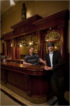 Jeff Hollinger (left) and Jonny Raglin. - PETER DASILVA/NEW YORK TIMES
