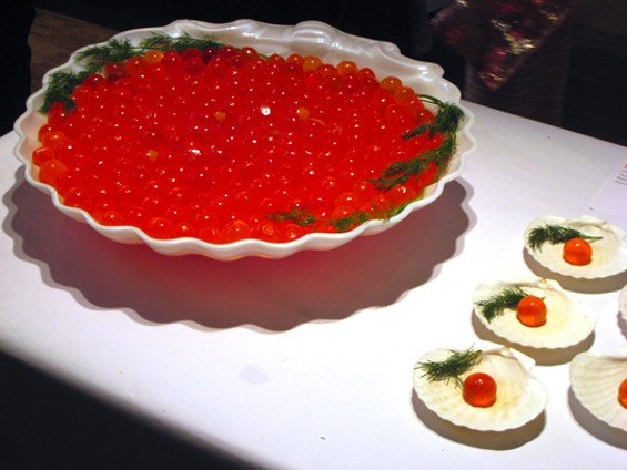Jell-O caviar, an entry in last year's contest. - RAPHAEL BRION/EAT ME DAILY