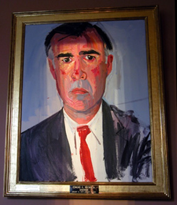 Jerry Brown's official gubernatorial portrait. Yes, really.