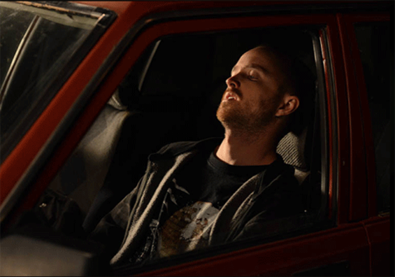 Jesse Pinkman, despondent. - PHOTO COURTESY OF AMC.