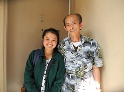 Jessica Khoe  and her father - DAVID MARTINEZ